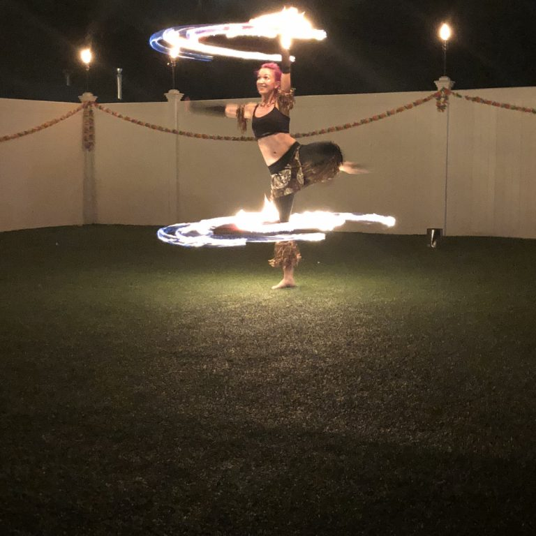 Wamesit Lanes Patio Fire Dancer